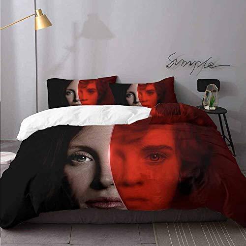 Juego de sábanas con diseño de capítulo dos Jessica Chastain As Beverly Marsh en sábanas y edredón de 3 piezas, juego completo