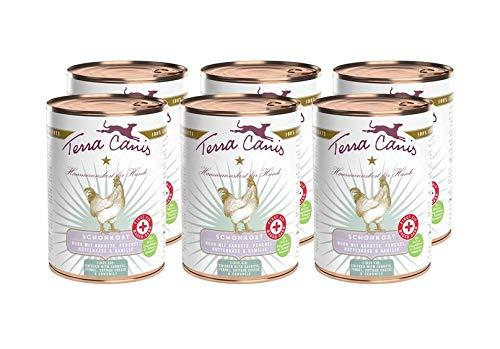 Terra Canis First Aid Magen-Darm-Schonkost Nassfutter I Reichhaltiges Premium Hundefutter in echter Lebensmittelqualität mit Huhn, Karotte & Fenchel I 6 x 400g, allergenarm, getreidefrei & glutenfrei