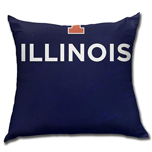 Fremont Die Illinois Fighting Illini Square Pillow Square Decoration,Pillow,Pillowcase,Bed Home Decoration,Cushion Cover,Home Decor Comfortable 18x18 Inches