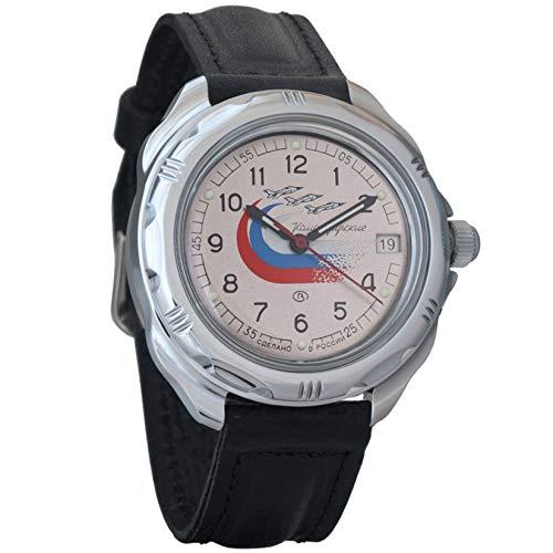 Vostok Komandirskie 2414 Reloj Militar Ruso mecánico de Cuerda Manual // 211562 (Classic)