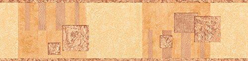 A.S. Création selbstklebende Bordüre Stick ups 5,00 m x 0,13 m braun orange Made in Germany 900647 9006-47