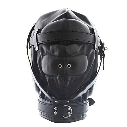 Esponja del cuero y la cabeza cubiertas tienen cerraduras para aire respirable facial cabeza divertida máscara partido desempeño rol Cosplay Unisex