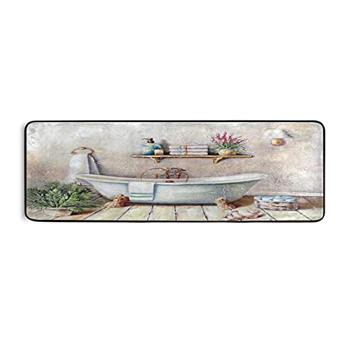 Wasruimte Runner Tapijt Vintage Bad Boerderij Decor Vloermat Wasserette Tapijt 72×24 inch