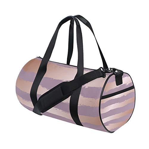 ZOMOY Sporttasche,Dekorative Nachahmung Roségold,Neue Druckzylinder Sporttasche Fitness Taschen Reisetasche Gepäck Leinwand Handtasche