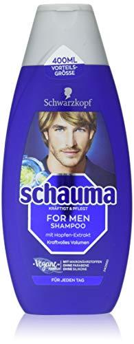 Schwarzkopf Schauma Shampoo Herren für kraftvolles Volumen, 5er Pack (5 x 400ml)