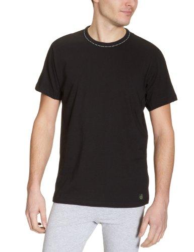 Calvin Klein CK One-Sleepwear-S/S PJ Top Camisón, Negro, S para Hombre