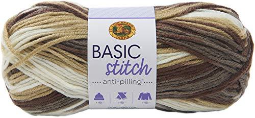 Lion Brand Yarn Company 202-201 Hilo de punto básico anti Pilling de piedra, piedra preciosa, una...