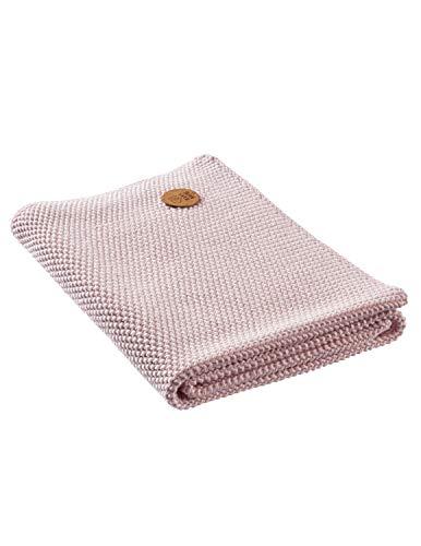 Bio Handtuch Perl-Strick-Qualität 100% Bio-Baumwolle (kbA) GOTS zertifiziert, Perlrosa, 50 x 70 cm