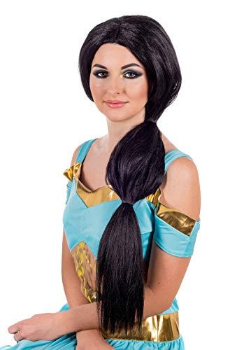 Fun Shack Schwarze Arabische Prinzessin Perücke für Damen - Einheitsgröße