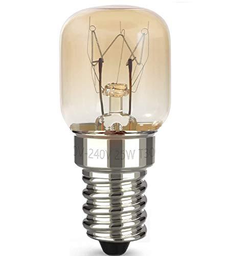 AcornSolution 25W T22 E14 230-240V SES backofenlampe Dimmbare klare GLS-Glühbirne für Kühl- und Gefriergeräte (1 Packung)