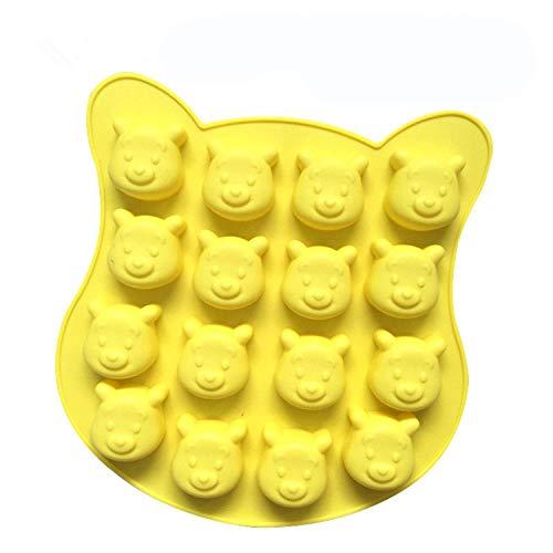 YiYuDe Pralinenformen Halloween Süßigkeiten Schimmel Gummibärchen Frucht Silikonform Cartoon Liebe Fünfzackigen Stern, Um Stroh Zu Senden, 16 Sogar Winnie The Pooh