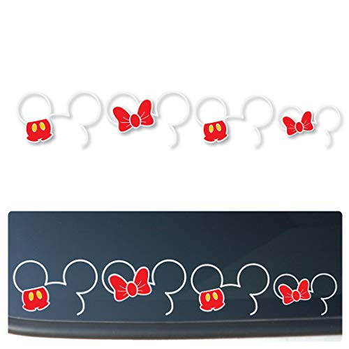 Mickey and Minnie Ears Family Vinyl Car/Truck/Vehicle Decal Sticker