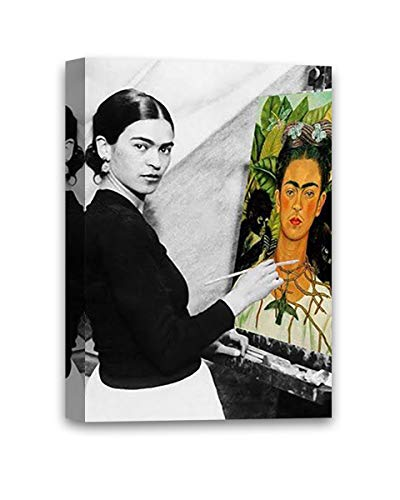 Funny Ugly Christmas Sweater Cute Frida Self-Portrait Mexican Painter Frida Kahlo Modern Painting Feminist Gifts Frida Canvas Decor Ready to Hang Poster 8' x 10'