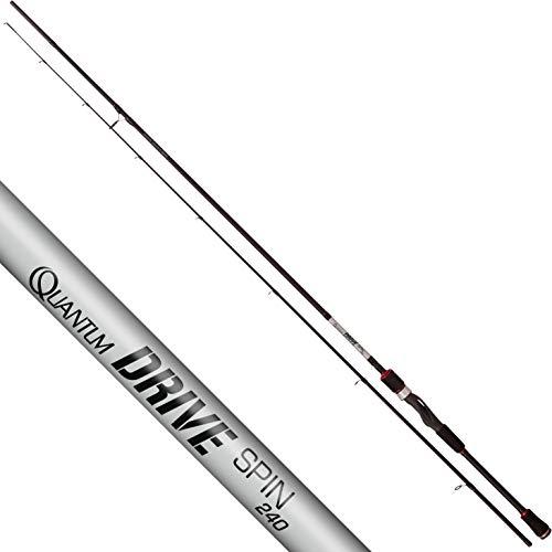 Quantum Drive Spin Caña de Pescar Spinning para Pesca de Peces Depredadores, Negro/Plateado, 2,70 m