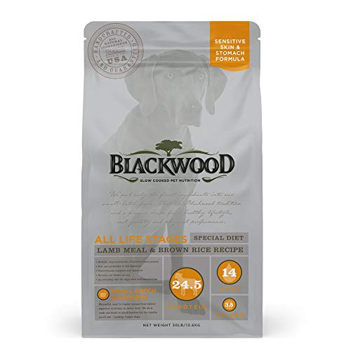 Blackwood Dog Food Made in USA Slow Cooked Dry Dog Food [Sensitive Skin and Stomach Dog Food to Solve Food Sensitivities Naturally], Lamb & Brown Rice Recipe, 30 lb. bag