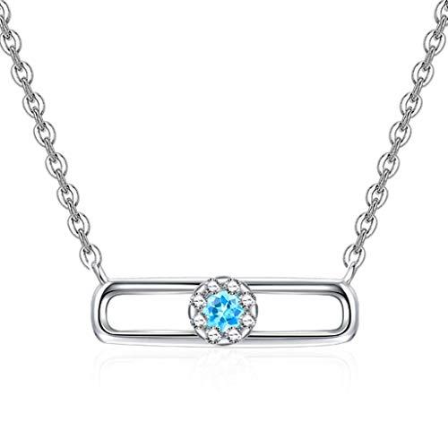 Collar colgante de la cadena de la suerte Collar de cadena de clavícula de las mujeres 925 Collar colgante de plata esterlina de plata esterlina con collar de cadena de plata de 18 pulgadas para mujer