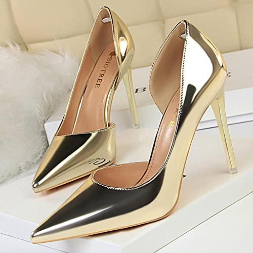 YHCS Bombas Sexy Zapatos de Mujer Tacones Altos 10.5 cm Patente de...