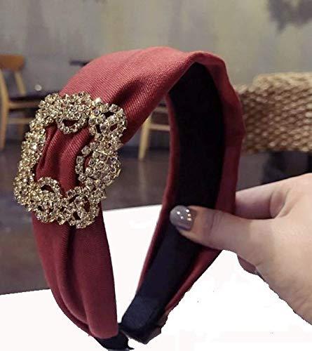 Diadema para el pelo para mujer, accesorio para el pelo, diadema (rojo)