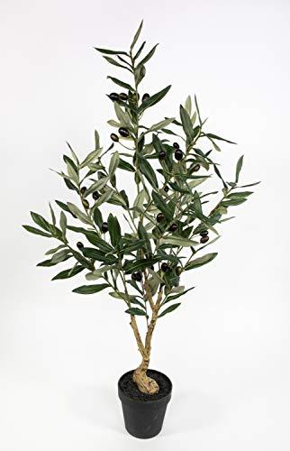 Olivenbaum 90cm im Topf ZF Kunstbaum Kunstpflanzen künstlicher Baum Pflanzen Olive