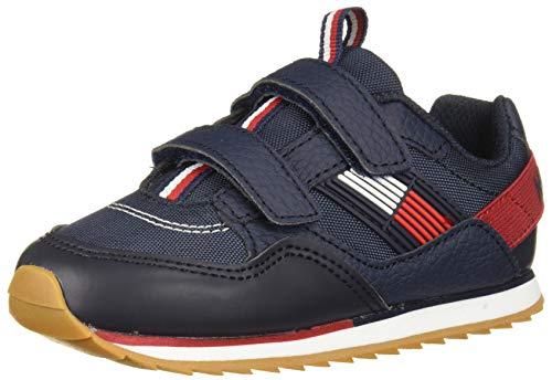 Tommy Hilfiger Kid's Julian 2.0 ALT Sneaker, Navy-T, 6 Toddler US Toddler