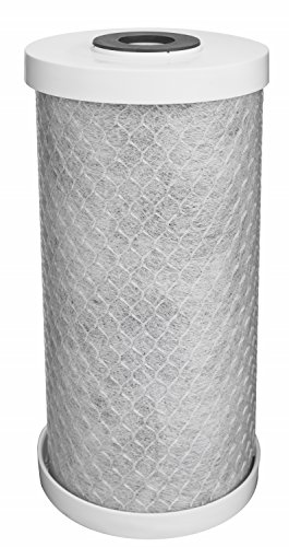 EcoPure EPW4C Carbon Block Whole Home Replacement Water Filter-Universal Fits Most Major Brand Systems, Gray/White