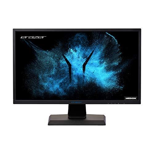 MEDION ERAZER X52424 62,2 cm (24,5 Zoll) Full HD Widesecreen Gaming Monitor (240 Hz, AMD FreeSync, 1ms, Neigbar, Drehbar, Schwenkbar, Höhenverstellbar, 2 x HDMI, Displayport, VESA)