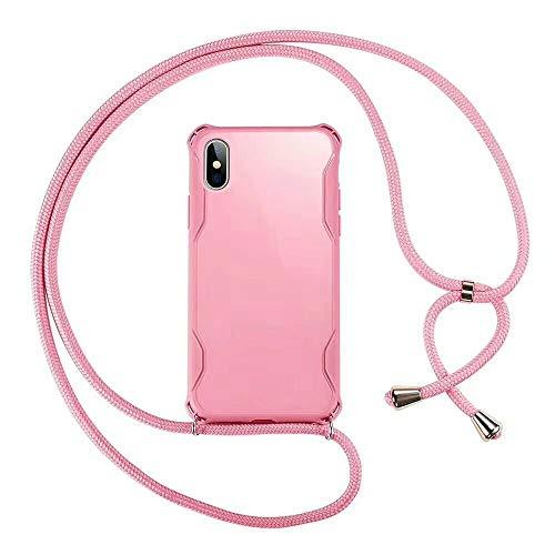SevenPanda für iPhone 6S Hülle mit Lanyard Umhängeband, Handy-Nackenbügel, Umhängetasche/Handy Halskettenhalter, Nackenkabel, Smartphone Hülle - iPhone 6 Halskettenetui - Rosa