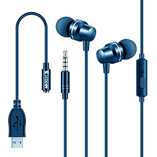 Mpow Jaws Gen4 Bluetooth Headphones W/Portable Case, Lightweight Wireless Neckband for Work from Home W/Call Vibrate, 13H Playtime, CVC 6.0 Noise Cancelling Mic, Bluetooth Headset Magnetic, Blue