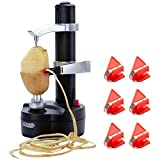 TOROTON Electric Potato Peeler, Multifunctional Automatic Rotato Express Rotating Fruits and Vegetables Cutter Apple Paring Machine with 6 Extra Blades, Kitchen Peeling Tool