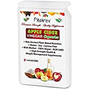 Apple Cider Vinegar Capsules with Mother 1200mgs Per Serving - Raw High Strength Natural Detox Cleanse Weight Loss Pills, Probiotics, Antioxidants - Keto Advanced Diet Supplements 100% Vegan