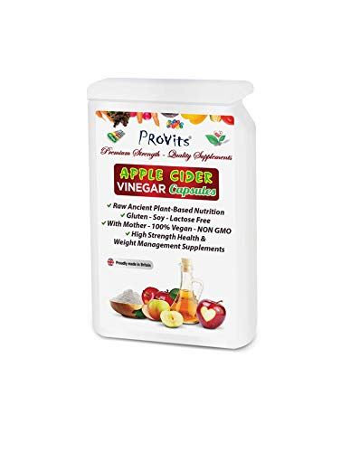 Apple Cider Vinegar Capsules with Mother 1200mgs Per Serving...