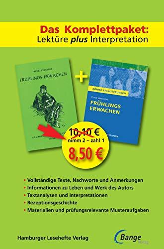 Frühlings Erwachen – Das Abi-Komplettpaket: Lektüre plus Interpretation.: Königs Erläuterung mit kostenlosem Hamburger Leseheft