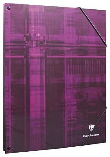 Clairefontaine 7036C Eckspann Ordnungsmappe (DIN A4, 21 x 29,7 cm, mit 12 Fächer, ideal für die Schule) 1 Stück farbig sortiert