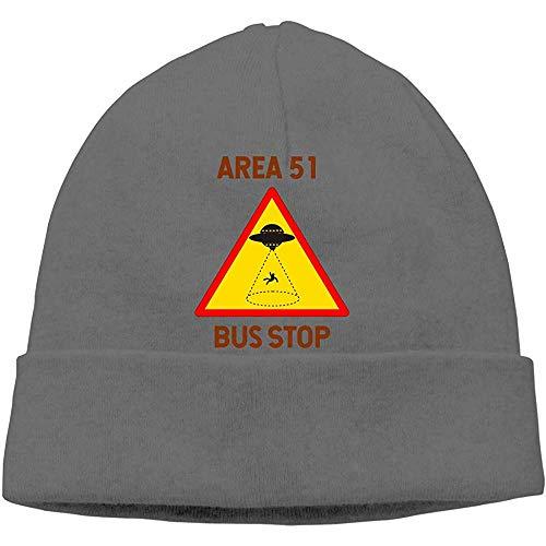 LinUpdate-Store Area 51 Bus Stop UFO Alien softclosemechanisme Beanies Cap Skull muts gebreide muts voor volwassenen
