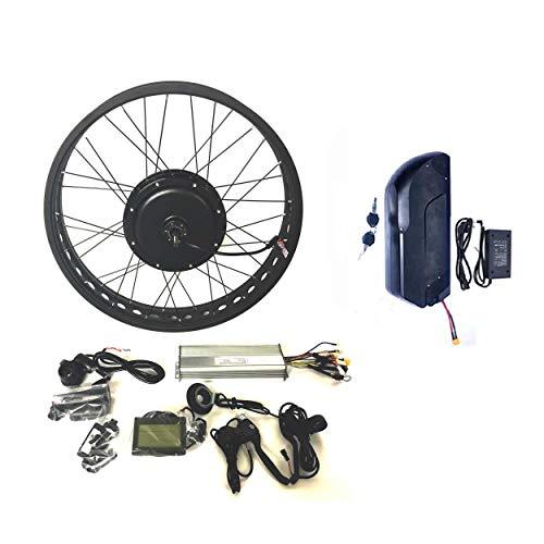 theebikemotor 48V1500W Hub Motor 18AH Samsung 35E Cell Li-on Ebike Batería Bicicleta ELÉCTRICA Kit DE CONVERSIÓN 4.0 Fat Rim + LCD + Tire (20