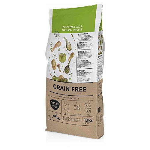 Natura diet Grain free Chicken & vegs 12 kg Alimento Natural seco.