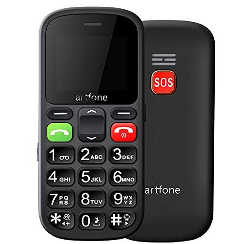 artfone CS181 großen Tasten Seniorenhandy   2G GSM Handy mit Notruftaste   Dual SIM Mobiltelefon ohne Vertrag   Inklusive Ladegerät(Schwarz)
