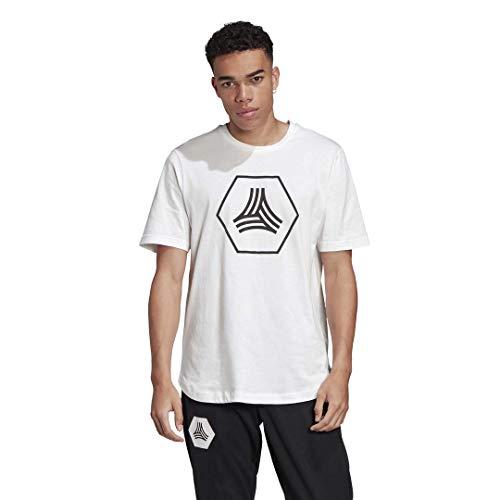 adidas Men's Tan Big Logo Tee White X-Large