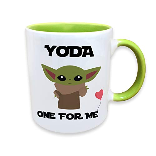 Yoda One For Me Funny Novelty Coffee Mug -11 oz.- Funny Gift Cup for Him, Her, Boyfriend, Girlfriend and Valentines Day, I Love You, His and Hers Mug, Romantic Gifts, Anniversary Couple Mugs, Fun Gift