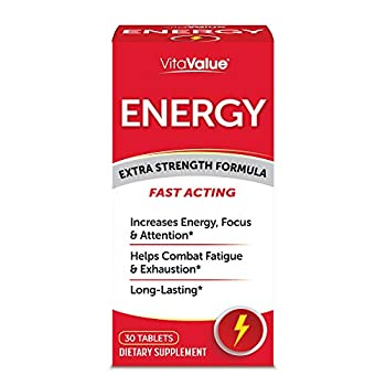 Vita Value Energy Extra Strength Formula Tablets 30 Count  Pack of 1