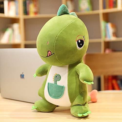 N / A Nuevo Juguete de Felpa de Dinosaurio de simulación Creativa Linda Dragón de Dibujos Animados Suave Animal de Peluche Almohada muñeca bebé aplacar Juguete Regalo de los niños 30 cm