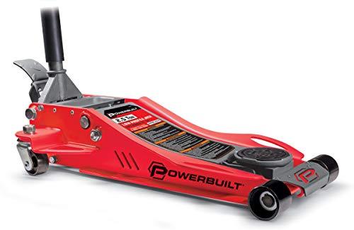 Powerbuilt 240076 Low Profile Fast Lift Floor Jack (2.5 Ton), 1 Pack