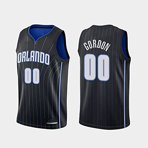 TGSCX Jerseys de Baloncesto de los Hombres NBA Orlando Magic # 00 Aaron Gordon Jersey Baloncesto Casual Deportes Sin Mangas sin Mangas Suelte Cuello Redondo Camisa,S