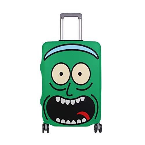 AJINGA Rick and Morty - Funda para maleta de viaje (talla S, 18-20 pulgadas)
