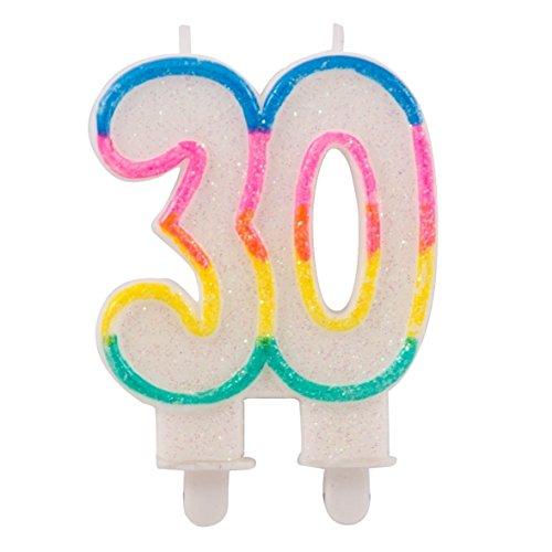 Candeline glitter con 2 basi 30 anni