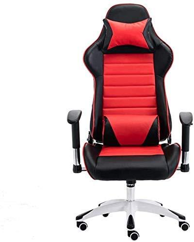Silla de la computadora silla reclinable de videojuegos de elevación y giratoria Barandilla E-Sports Gamer sillas de altura ajustable Silla de escritorio ergonomía Ejecutivo for el Estudio Dormitorio