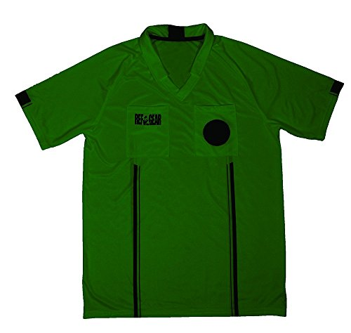 REF GEAR Economy Referee Jersey Green, Small