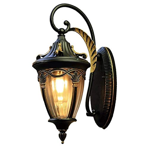 CMmin Lámpara de Pared para Exteriores Luz de Pared Exterior, American Pastoral Impermeable Villa Balcón Terraza Pared de la luz, aleación de Aluminio de Materiales, Resistencia a Altas t