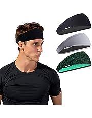 Sporthoofdbanden voor heren en dames - zweetband & sport hoofdband vochttransport workout zweetbanden voor hardlopen, cross training, yoga en fietshelm (3 stuks)