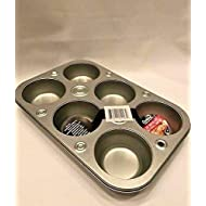 Cooking Concepts Toaster Oven 6-cup Size Metal Muffin / Cupcake Pan, 1 lb